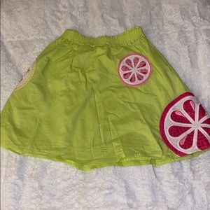 Girls Gymboree 8 skirt lemons limes